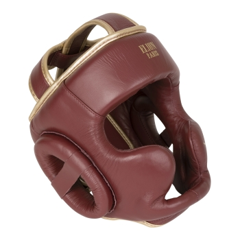 Casque de boxe ELION Paris Cuir Bordeaux Vintage