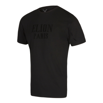 T-Shirt ELION PARIS Noir/Velour Noir