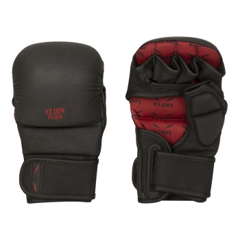 Gants MMA ELION Sparring - Mat-Black  CUIR