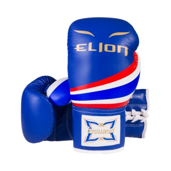 Gants de boxe à lacets ELION Born in Thailand - Blue
