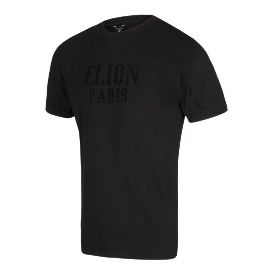 T-Shirt ELION PARIS Noir/Velour Noir