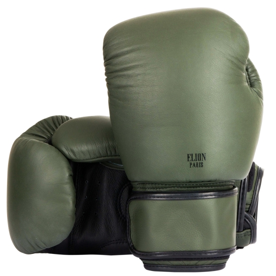 Gants de boxe ELION Collection Paris - Kaki Mat/Noir Mat