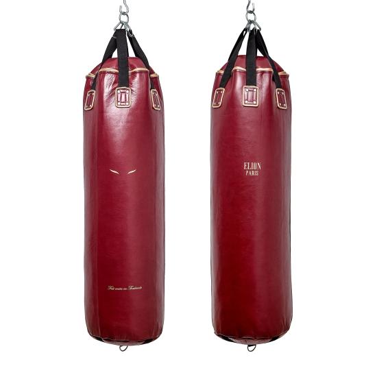 Sac de frappe ELION Cuir Collection Paris - 1m35 - 45kg - Bordeaux