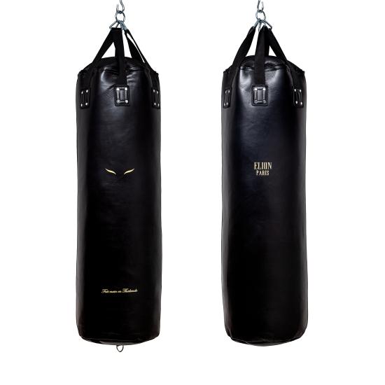 Sac de frappe ELION Cuir Collection Paris - 1m35 - 45kg - Noir